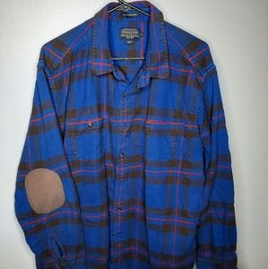 "Pendleton ""Elliot Tartan"" elbow patch flannel"